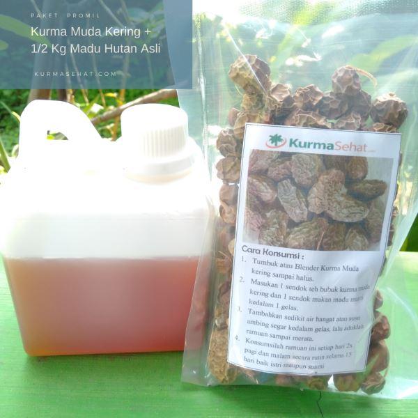 Paket promil kurma muda kering dan madu asli
