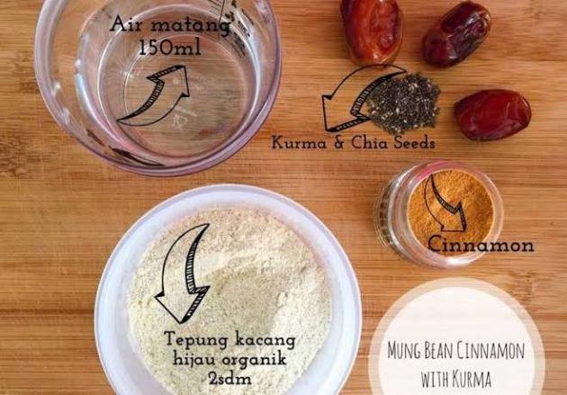 Resep MPASI Kurma 6 Mung Bean Cinnamon